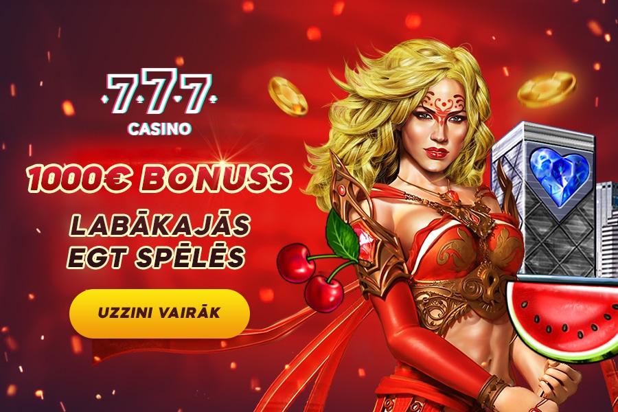 1000 eiro bonuss labākajās EGT spēlēs