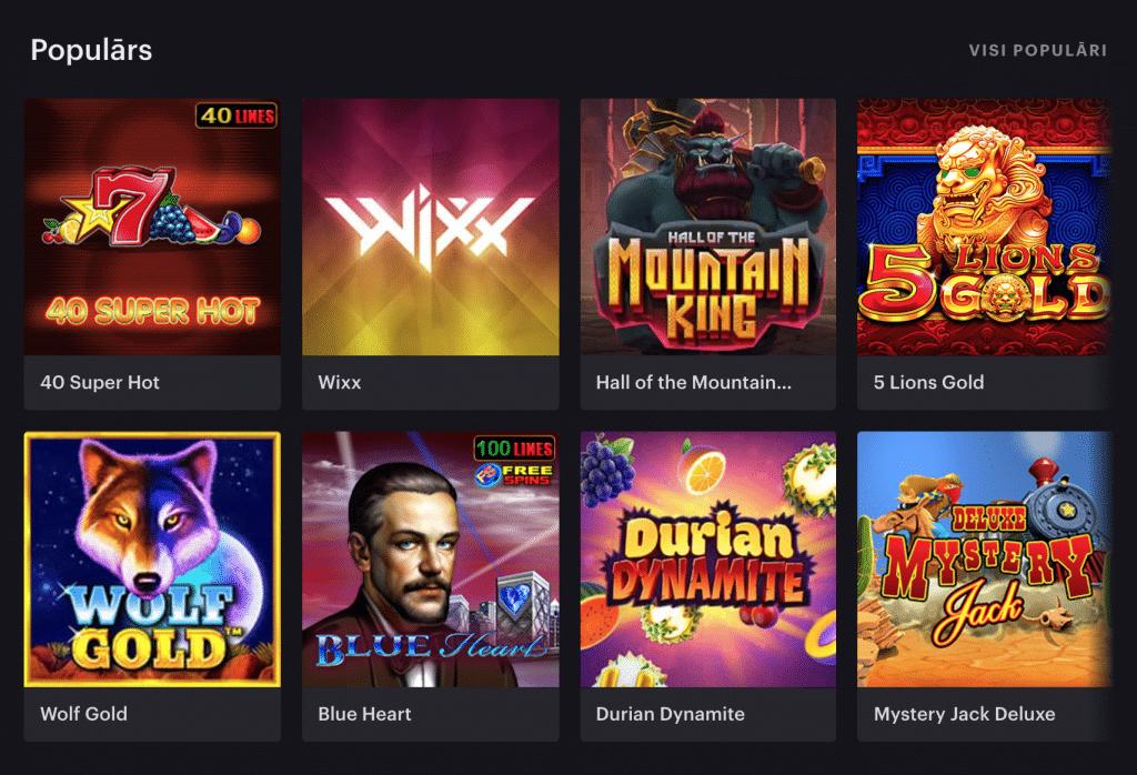 """""""Casino 777"""" lietotāju iecienītākās kazino spēles"""