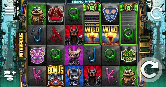 kazino bonusi Nitropolis spēlē
