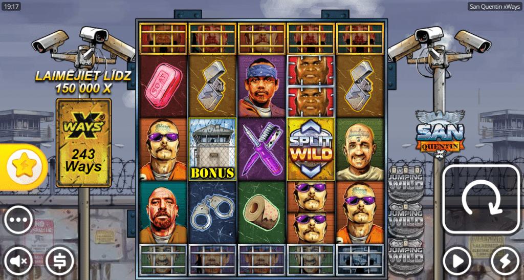 Optibet online kazino bonuss jaunākajā spēlē San Quentin spēļu automāts.