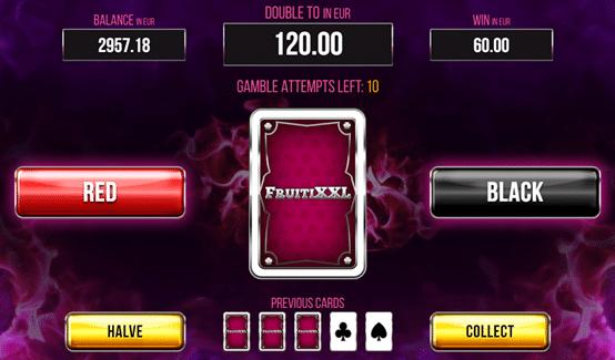 Fruiti XXL spēļu automāts bonuss